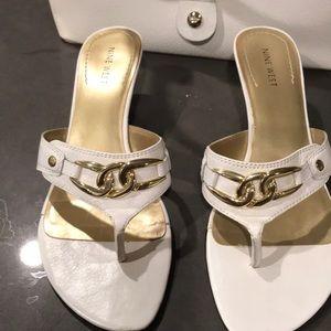 Nine West off white sandal